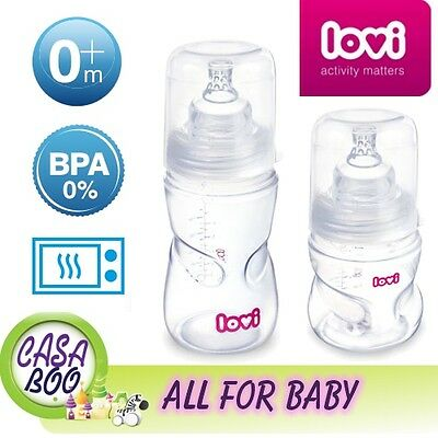 Self-sterilizing baby bottle LOVI with dynamic Lovi teat 0m+ / 3m+ 150/250ml