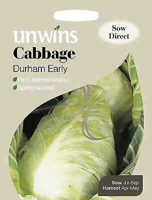 Unwins Pictorial Packet - Vegetable - Cabbage Durham Early - 350 Seeds