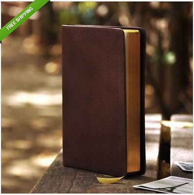 HOT Top Blank Diaries Journals Notebook Note Book Vintage PU Brown Leather Cover