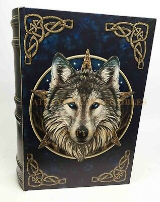 Decorative Wooden Book Box By Designer Lisa Parker Celtic Wolf The Wild One