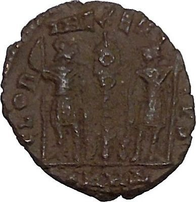 Constantine  The Great founds Constantinople Ancient  Roman Coin Soldiers i42656
