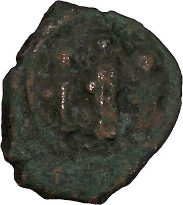 Heraclius with two sons  610AD Medieval Ancient Byzantine Coin i42659