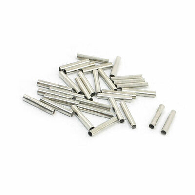 30Pcs Crimping Type Non-insulated Pipe Bare Terminal Connector for 18AWG Wire