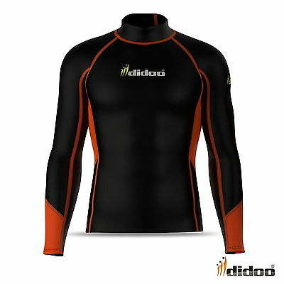 Men's Compression Long Sleeve Thermal Shirt Base Layer Gym Sports Lightweight