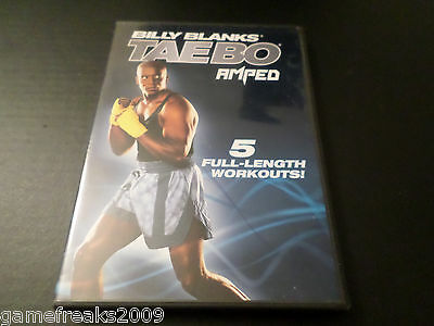 BILLY BLANKS TAEBO AMPED 5 FULL LENGTH WORKOUTS DVD