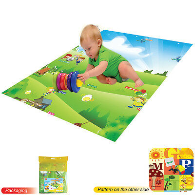 Large Play Mat Baby Toddler Children Kid Double Sided Rug Foam Padded With Case