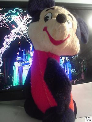 Vintage Walt Disney Mickey Mouse Plush Toy Red Solid Body