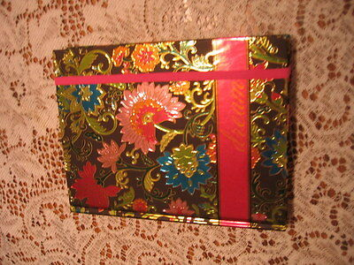 """BLANK JOURNAL~DIARY LINED PAGES BRIGHT VIVID COLORS FLORAL """" DREAM"""" SWEET"""