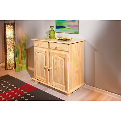 commode buffet console meuble de rangement cuisine portes tiroirs massif blanc eur 169 00. Black Bedroom Furniture Sets. Home Design Ideas
