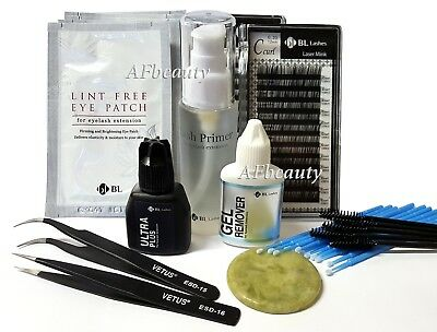 BL Lashes (BLINK) Eyelash Extension PRO Kit C/0.15/8,10mm Set Mink Lash Glue