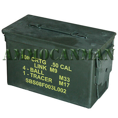1 ea   Grade 1  50 cal empty ammo cans 1Total ! Excellent Cans FREE SHIPPING