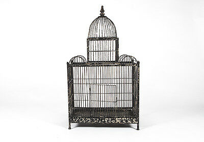 Rustic Faux- Distressed Metal Bird Cage Large/ Medium French Classic