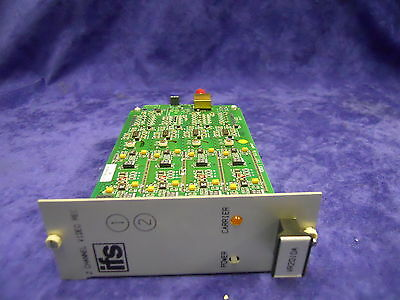 USED WORKING IFS VR2010 - R3 2- CHANNEL FM VIDEO RA MM 1 FIBER RM CARD