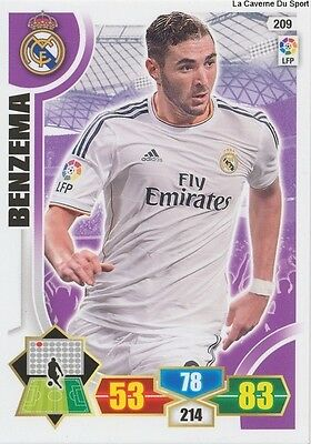 N°209 Benzema # France Real Madrid Ol Lyon Card Panini Adrenalyn Liga 2014
