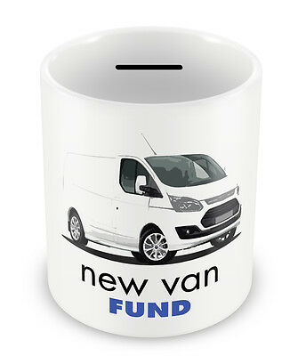 NEW VAN Fund Money Box - PIGGY BANK Coin pot Bank tradesman gift idea xmas #94