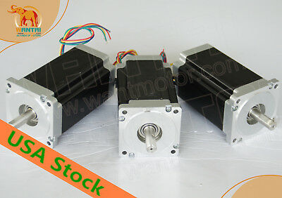 3days ! Wantai 3PCS Nema34 Stepper Motor Dual Shaft 3.5A 12N1600oz-in CNC miling