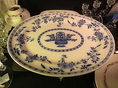 "Minton Delft Flow Blue 17-1/2"" Platter AS IS"