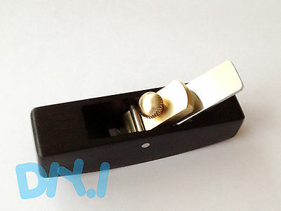 Premium Adjustable Ebony Mini Instrument Plane Hand Finished, Convex Compass