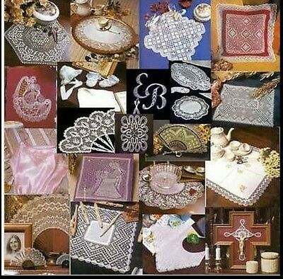 DVD FULL COURSE OF BOBBIN LACE WITH MORE PATTERNS AND MANY EXTRAS 1000