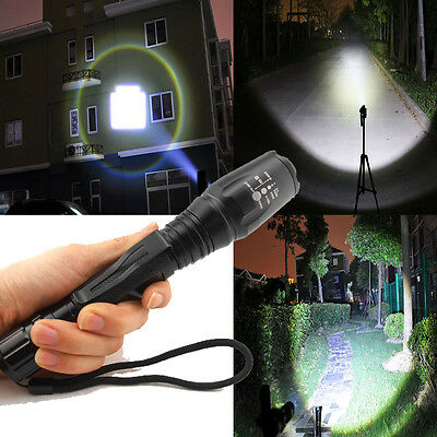Zoomable 5Mode 2000Lumen CREE XM-L T6 Focus LED Flashlight Lamp+Battery+Charger