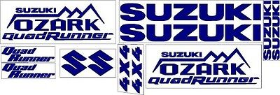 250 Suzuki Ozark Fender Tank Plastic Decal Sticker Emblem Graphic Kit