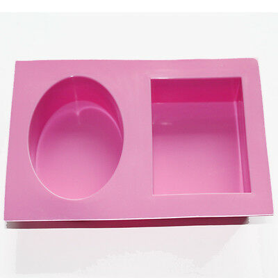 Large Oval Rectangle SOAP Candle Cake Muffine Silicone MOLD Mould