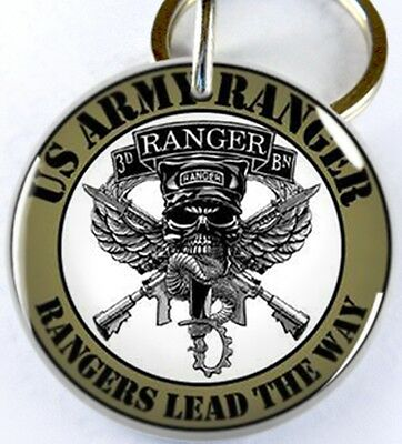 U.S. Army Ranger Military lead the way dog cat custom tag for pets by ID4PET
