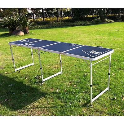 Hartleys Official 8 Ft Folding Beer Pong Table Party Drinking Games Garden/BBQ
