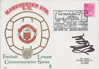 Brian KIDD Signed Autograph Manchester United First Day Cover FDC COA AFTAL RARE