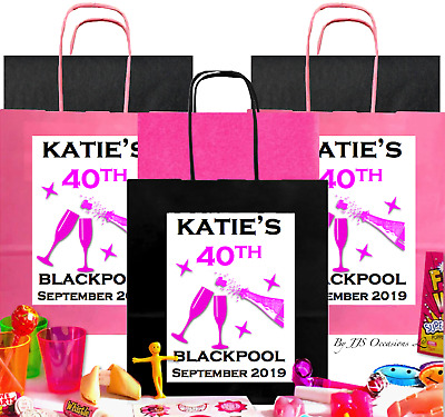 ADULT BIRTHDAY PARTY BAG with 6 Fillers CREATE YOUR OWN PERSONALISED FAVOUR IDEA
