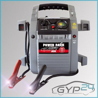 Apa Power Pack 12/24 V Mobile Starthilfe Generator Kompressor 900/1500 A