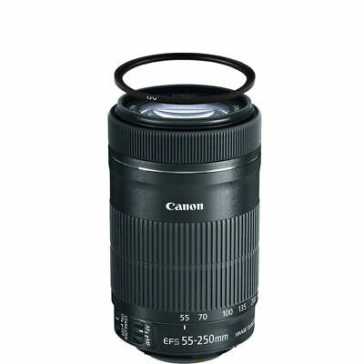 Canon EF-S 55-250mm f/4-5.6 IS STM Lens w/58mm UV Filter