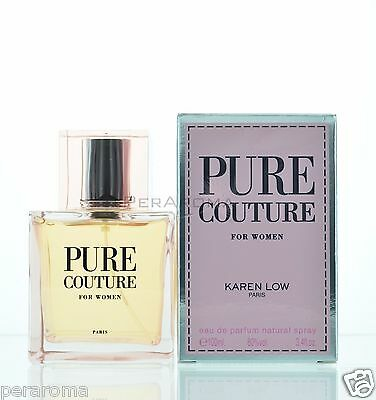 Pure Couture For Women By Karen Low  Eau De Parfum Spray 3.4 oz