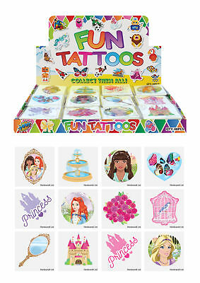 72 Princess Temporary Tattoos (6 Bags Of 12) - Pinata Loot/Party Bag Fillers Kid