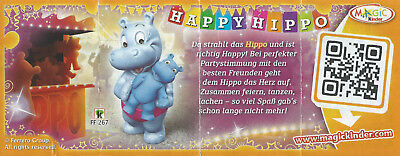 BPZ Kinder Funny Versary 40 ans FF267 Happy Hippo Allemagne 2014