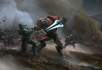 Halo Reach Poster Art Print Kids Bedroom Hr01 A4 A3 Buy 2 Get 3Rd Free