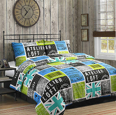 Reversible Duvet Quilt Cover with Pillowcase Bedding Set New and Unique Design