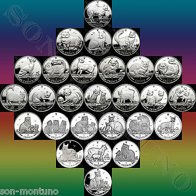 ISLE OF MAN CAT COINS - Your Choice ANY YEAR Copper Nickel CuNi 1 Crown 1988-Now