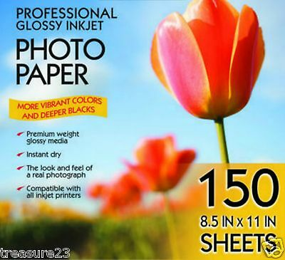 "Kirkland Signature 8.5"" X 11"" Professional Glossy Photo Paper 150 Count"