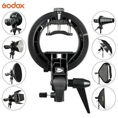 Godox S-Type Bracket Bowens S Mount Holder fr Speedlite Flash AD-180 AD-360 UK