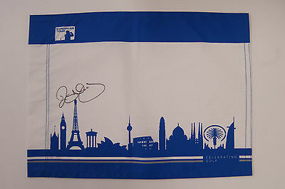 Rory McILROY SIGNED AUTOGRAPH AFTAL COA European Tour Golf Flag Ryder Cup Winner