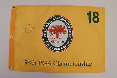 Rory McILROY SIGNED AUTOGRAPH AFTAL COA US PGA Yellow Golf Flag Ryder Cup Winner
