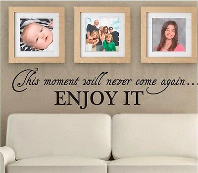 Enjoy This Moment Wall Quotes decal stickers decor Vinyl Home Art Mural DIY