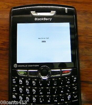*FOR PARTS* BlackBerry 8830 - World Edition Black (Sprint) Smartphone **READ**