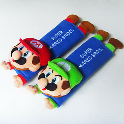 Brand New Disney Super Mario Bros Car Seat Belt Cover Shoulder Cushion Pads