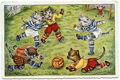 CHATS HUMANISéS . HUMANIZED CATS.   FOOTBALL.