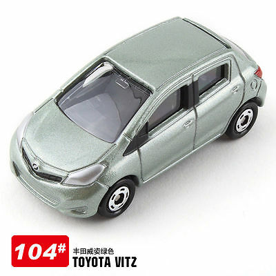 Tomy #104 Light Green Special Edi. Toyota Vitz Scale 1/64 Diecast Toy Car Japan