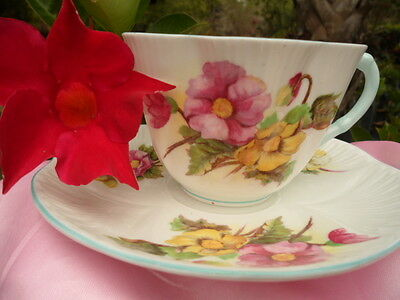 SHELLEY  BEGONIA 13427 DAINTY  SHAPE  CUP AND SAUCER