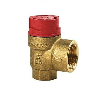 "Boiler Safety Pressure Relief Valve. 1/2"" BSP Choose From 1.5 BAR - 8 BAR"