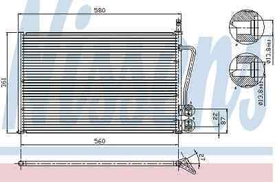 Nissens Condenser 94587 Fit with Ford Fiesta V